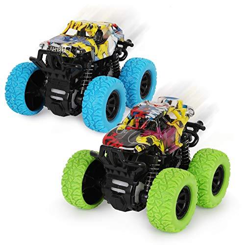 2 Stück Monster Truck Spielzeug ab 3 Jahren,Reibungsbetriebene...
