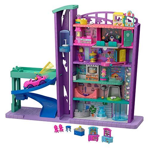 Polly Pocket GFP89 - Pollyville Einkaufspalast Grande Galleria Puppenhaus, Spielzeug ab 4 Jahren
