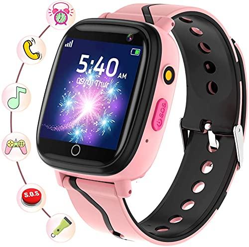 Smartwatch Kinder - Smartwatches Telefon mit Musik SOS Spiele Kamera...