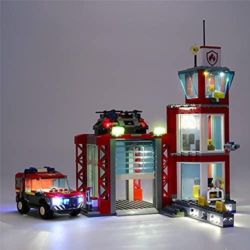 HYQX Led Beleuchtung Set für Lego 60215 City Feuerwehr-Station,LED...