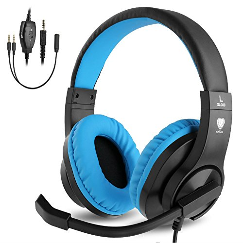 ShinePick Kopfhörer Kinder, 3.5mm Wired Gaming Headset mit Mikrofon,...