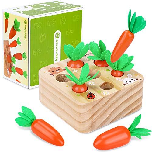 Montessori Holzpuzzle Sortieren Karottenernte...