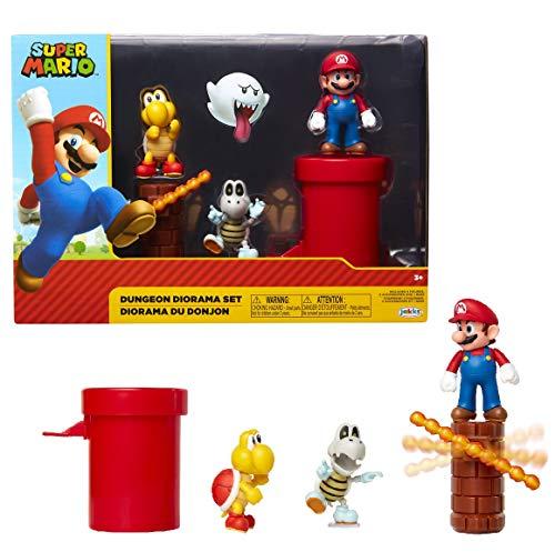 Jakks Pacific 85989 Dungeon Diorama Set, 6 cm Super Mario - Set de...