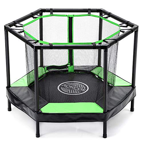AOKCOS Kinder-Trampoline Mini-Trampoline mit Netz und...