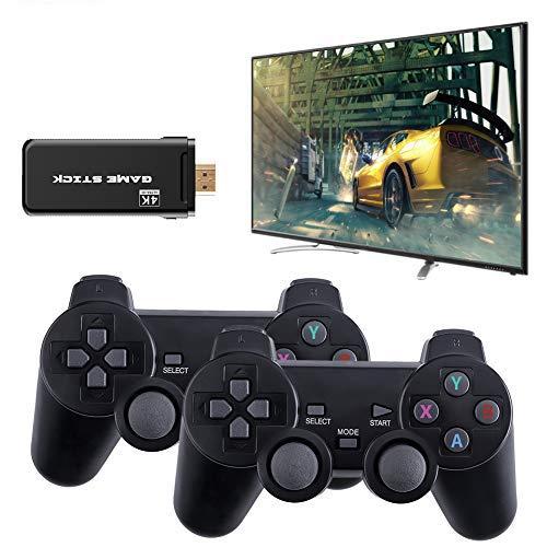 Kabellose Spielekonsole, 4K HDMI Mini-Videospielkonsole mit USB Game Stick, 2.4G Bluetooth 8 Bit Retro...