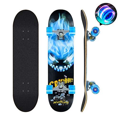 Skateboards Pro 78,7 cm Komplett-Skateboards Double Kick Longboard...