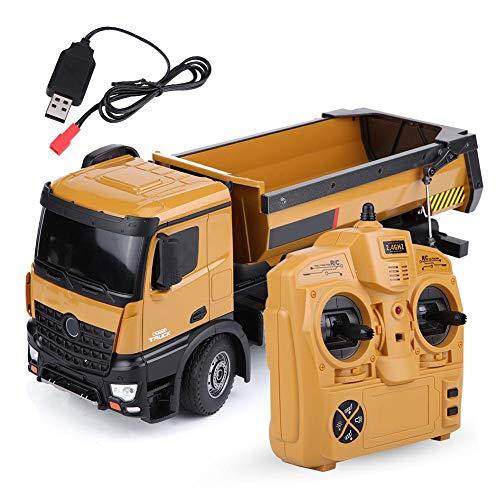 Dilwe RC Muldenkipper, HUINA 1573 1/14 Skala 2,4 GHz RCDumping Truck Auto Fernbedienung Engineering Fahrzeug...