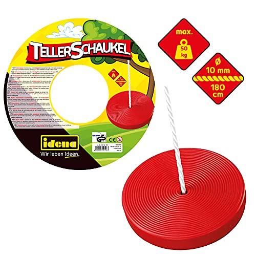 Idena 40196 - Tellerschaukel aus Kunststoff in rot, für Kinder ab 3...