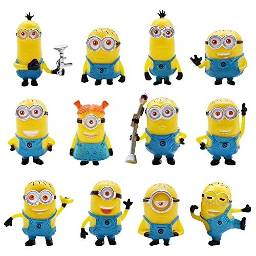 Minions Mini Figuren Set, NALCY 12 Stück Minion Dekorationen, Kuchen...
