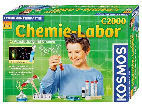 KOSMOS C2000 - Chemielabor, Laborausstattung mit Brenner, 260 Experimente und Einführung in die chemische...
