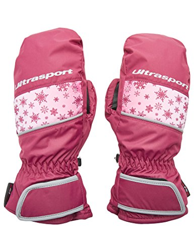 Ultrasport Kinder Basic Starflake Ski-fäustling, Beere, 4-6 Jahre