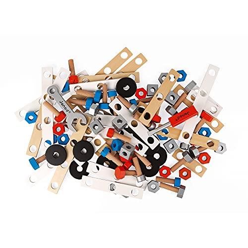 Janod - Brico'Kids Eimer mit 50 Teilen, Holz-Konstruktionsspiel und...