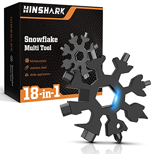 Hinshark Geschenke für Männer - 18-in-1 Schneeflocken Multi-Tool,...