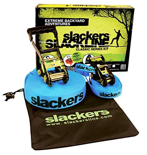 Slackers USA Slackline Classic 15m, Set mit zusätzlicher Teaching...