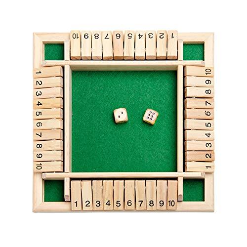 Rvest Shut The Box Spiel - Deluxe 4-Spieler Shut The Box Holz Tisch...