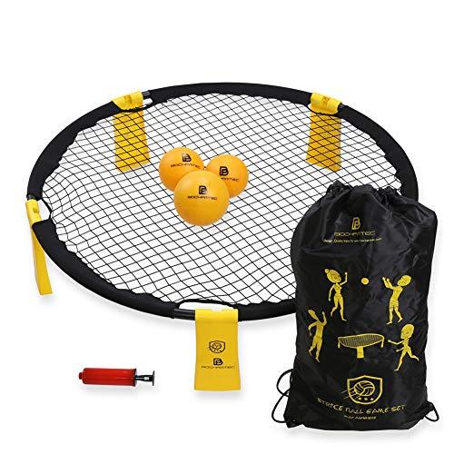 BOCHAMTEC Strikeball 3 Bälle Spielset – Aktuelles Bounce Netz inkl....
