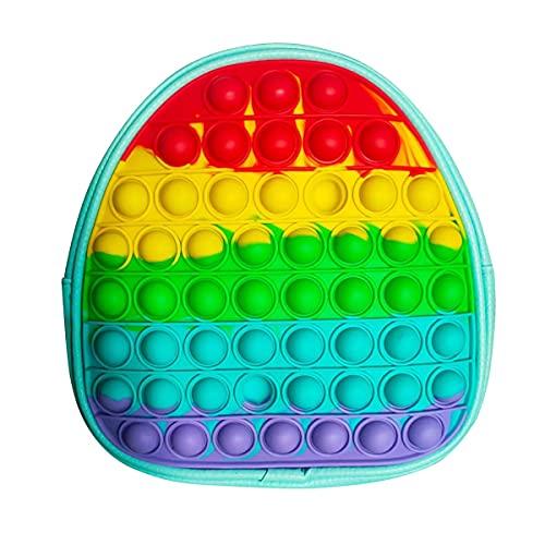 Rucksack Pop Fidget Toy Push Bubble Regenbogen Antistress Spielzeug...