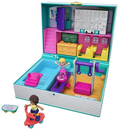 Polly Pocket GFM48 - Pocket World Schulbuch Schatulle, Puppen Spielzeug ab 4 Jahren