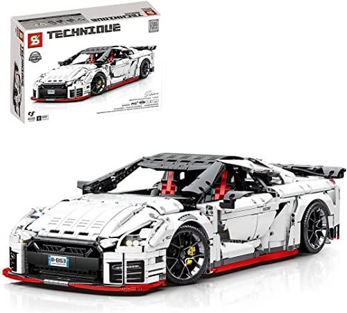 MOMAMO Technics Rennwagen für Nissan GTR, 4098Pcs 1:8 Sportwagen...