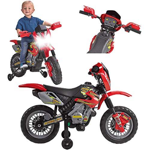 FEBER 6V Motorrad Cross, 400F, 6 V, Farbe Schwarz, Grau, Rot, Gelb...