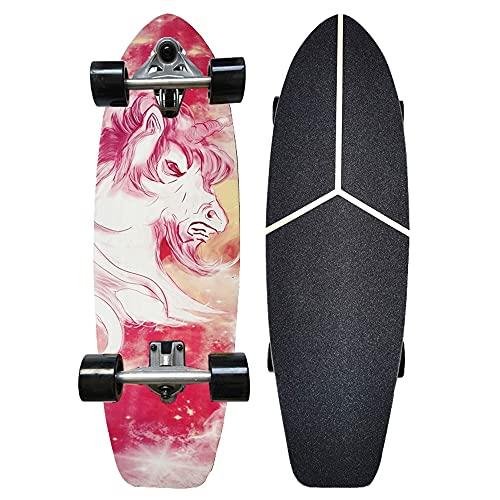 Skateboard Komplettboard Cruiser Funboard Longboards 30x9 inch...