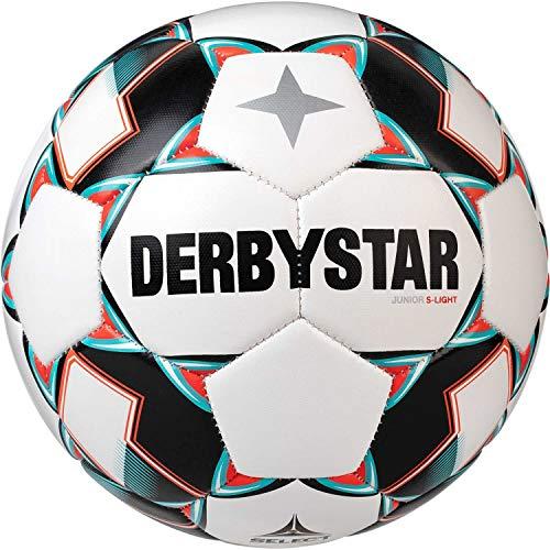 Derbystar Kinder Junior S-Light, 1722400142 Fußball, Weiss Gruen...