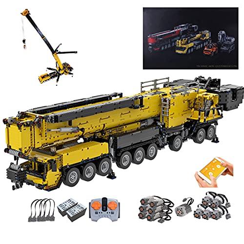 OIURV Technic Liebherr Crane LTM1750-9.1 Baufahrzeug Modell mit 12...