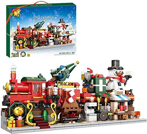 CCOPHTY Weihnachtsbausteine Set, Bewegliche 4 IN 1 Weihnachtszug...