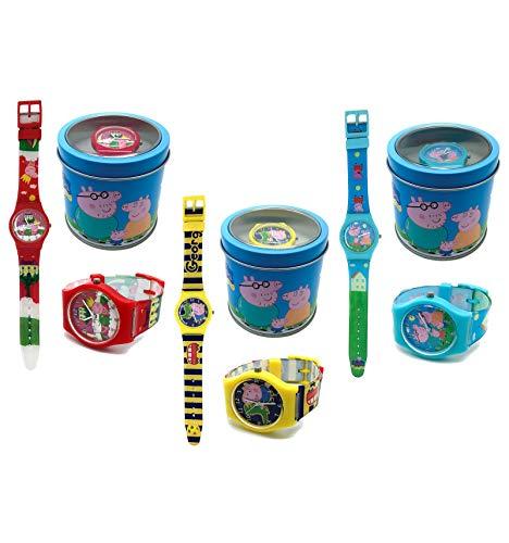 Kinderuhr Peppa Wutz + Aufbewahrungsdose / Uhrenbox - Uhr Kinder...