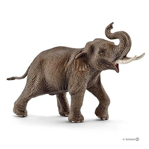 Schleich 14754 - Asiatischer Elefantenbulle, mehrfarbig