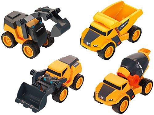 Theo Klein 2405 Volvo Baustellen-Mega-Set, Maßstab 1:24, Spielzeug