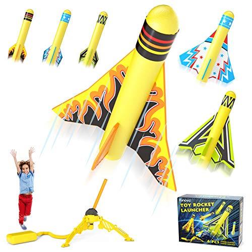 FUNOVA Druckluftrakete Outdoor Rakete Spielzeug - Rocket Gartenspiele...