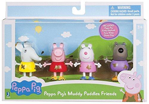 Peppa Pig 92648 - Matschepfütze Peppa & Freunde, 4er Spielfiguren Set...