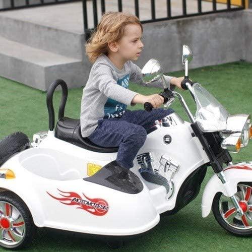 BAOZUPO Kinder Motorrad Elektro Tandem Motorrad 3 Räder Motorrad...