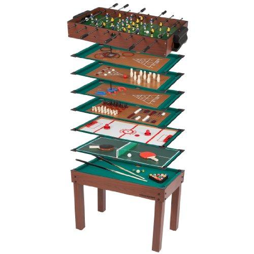Ultrasport Multifunktionsspieltisch, 12 kleine Spiele für Kinder: Tischkicker, kleines Billard, Ringwerfen...