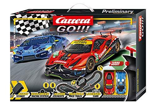 Carrera GO!!! Race the Track Rennstrecken-Set | 6,2m elektrische...