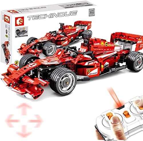 Technik Bausteine Auto Formel FRR-F1 Fennwagen, 585Teile 1:10 2.4G 4CH...