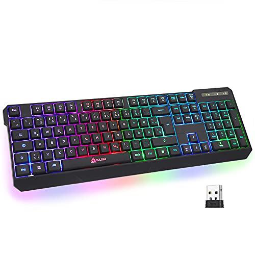KLIM Chroma Wireless Gaming Tastatur Kabellos QWERTZ...