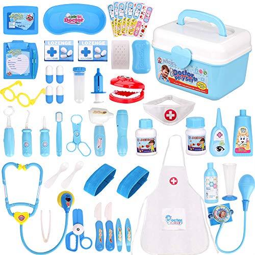 Faburo 47 Stück Arztkoffer Kinder Medizinisches Spielzeug Doktor Set...