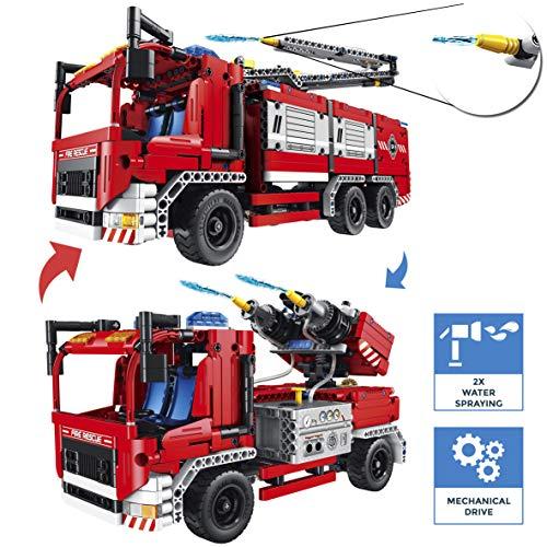 CELMAN QIHUI Funktionsgerecht Bausteine - Feuerwehrfahrzeug mit...