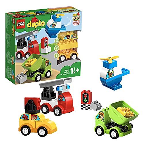 LEGO 10886 DUPLO Meine ersten Fahrzeuge, Bauset mit 4 baubaren...