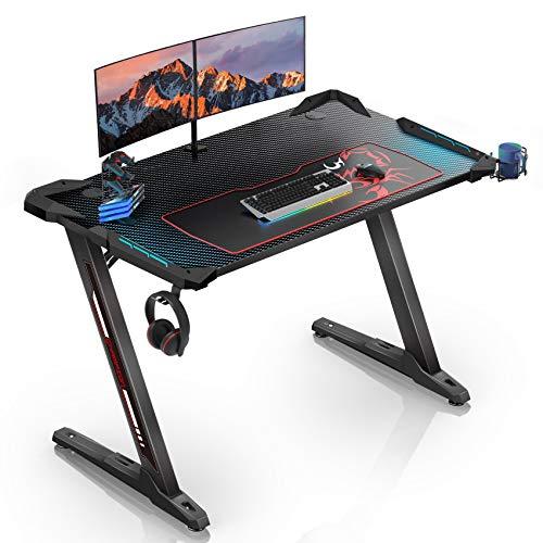 EUREKA ERGONOMIC Gaming Tisch Z1S Gaming Schreibtisch...