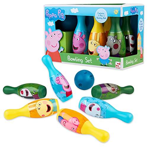 Peppa Pig Kegelspiel für Kinder, Bowling Set Kinder, Peppa Wutz...