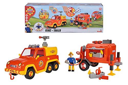 Simba 109251086 Feuerwehrmann Sam Venus mit Anhänger und Figur