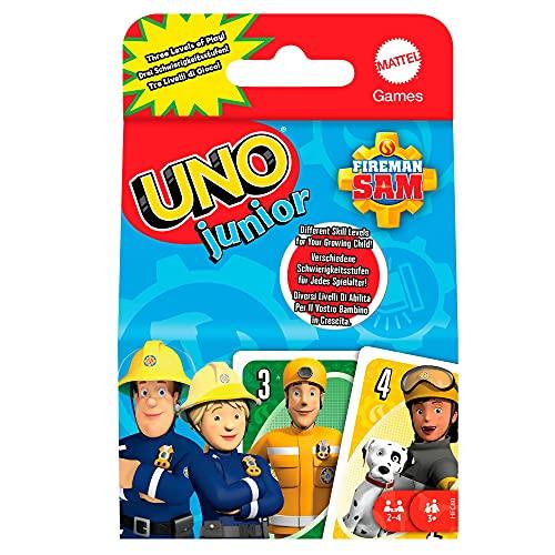 Mattel Games HFC80 - UNO Junior Feuerwehrmann Sam Kartenspiel mit...