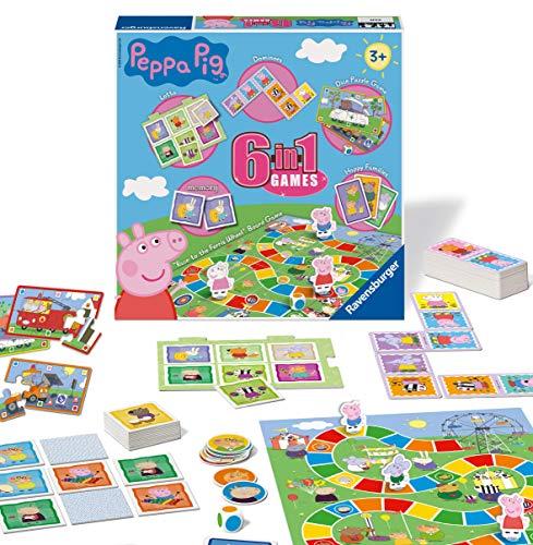 Ravensburger Peppa Pig 6-in-1 Spielkompendium für Kinder und Familien...
