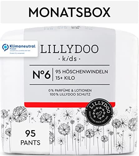 LILLYDOO Pants, Größe 6 (15+ kg), 95 Windeln, Monatsbox