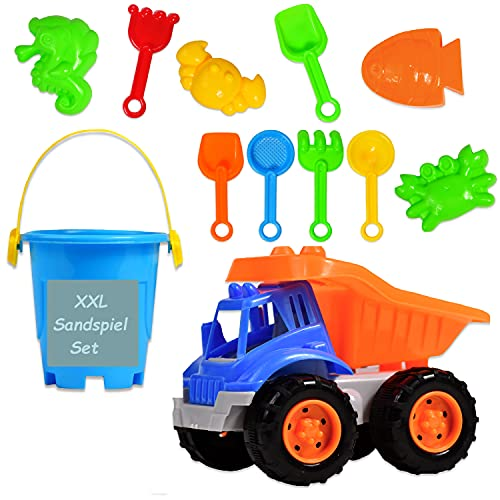 XXL Sandspielzeug Set   Sandkasten Spielzeug inkl. Sand Kipper/ Bagger...