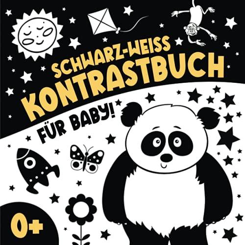 Schwarz Weiß Kontrastbuch für Baby: Mein Ertes Kontrastkarten Buch I...