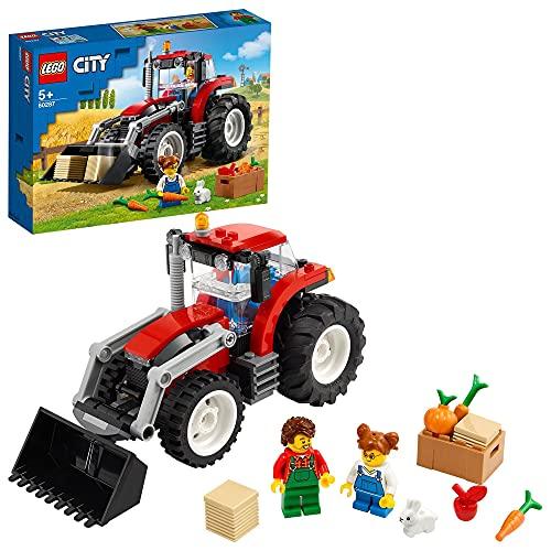 LEGO 60287 City Traktor Spielzeug, Bauernhofset mit Hasenfigur für...